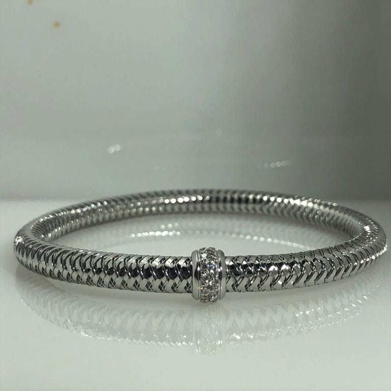 Roberto Coin 18 KT White Gold and Diamond