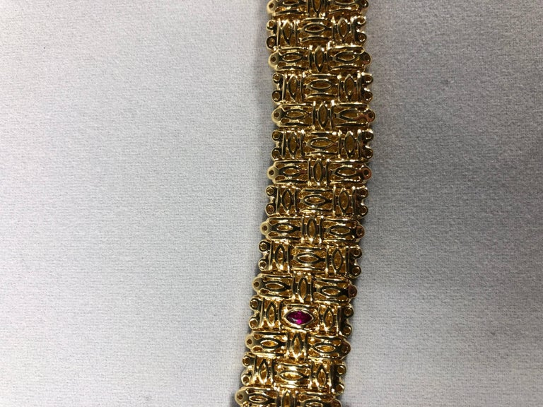 Roberto Coin 18 Karat Yellow Gold and 2.03 Carat Full Cut Round Diamond Bracelet For Sale 1