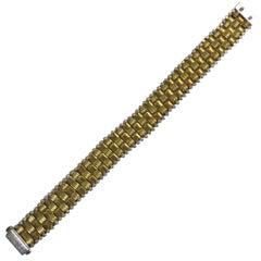 "Roberto Coin 18 Karat Yellow Gold and Diamond ""Appassionata"" Bracelet"