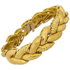 Roberto Coin 18 Karat Yellow Gold Braided Bracelet 55.30 Grams