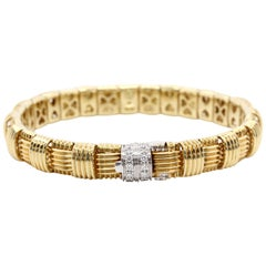 Roberto Coin 18 Karat Yellow Gold Diamond Appasionata Bracelet