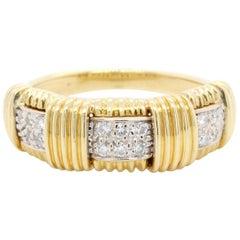 Roberto Coin 18 Karat Yellow Gold Diamond Appasionata Ring