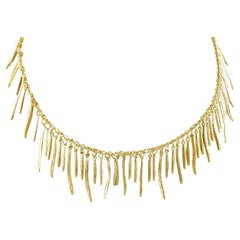 Roberto Coin 18 Karat Yellow Gold Elephant Skin Tassel Fringe Necklace