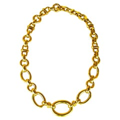 Roberto Coin 18 Karat Yellow Gold Necklace 34.30 Grams Ruby Marker