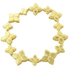 Roberto Coin 18 Karat Yellow Gold Princess Flower Collection Bracelet