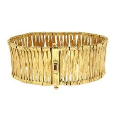 Roberto Coin 18 Karat Yellow Gold Ruby Elephant Skin Bracelet