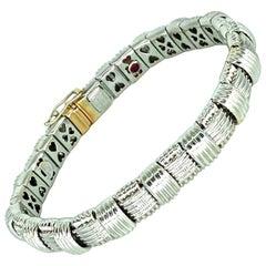 Roberto Coin 18k Gold & Diamond Appassionata 1 Row Woven Bracelet