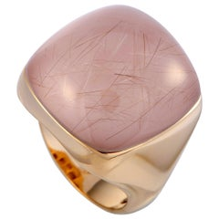 Roberto Coin 18 Karat Rose Gold and Rutilated Quartz Ring