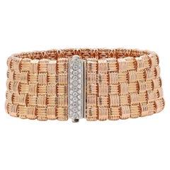 Roberto Coin Appasionata 5-Row Rose Gold & Diamond Bracelet