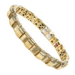 Roberto Coin Appasionata Diamond Bracelet in 18k Yellow Gold 0.14 CTW