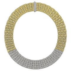 Roberto Coin, 'Appassionata' 18 Karat Yellow/White Gold with Diamonds Necklace