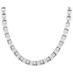 Roberto Coin Appassionata 18k White Gold 7.00 Ct Diamond Necklace