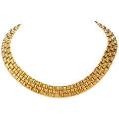Roberto Coin Appassionata Classic 3 Rows Diamond 18 Karat Gold Necklace