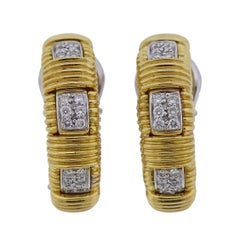 Roberto Coin Appassionata Diamond Gold Hoop Earrings