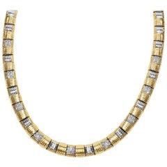 Roberto Coin Appassionata Necklace in 18 Karat Two-Tone Gold 1.35 Carat