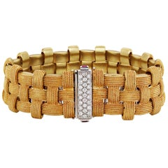 Roberto Coin Appassionata Yellow Gold and Diamond Bracelet