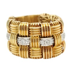 Roberto Coin Appassionata Yellow Gold Diamond Ring