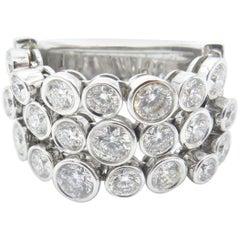 Roberto Coin Cento Frizzante White Gold and Diamond Ring