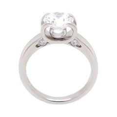 Roberto Coin Cento Platinum Diamond Engagement Ring, AGS 1.642 Ct. E, VS2