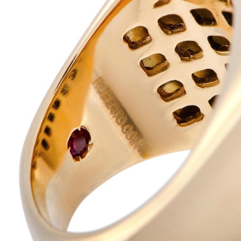 Roberto Coin Cocktail 18 Karat Rose Gold Diamond and Onyx Ring 1