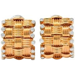 Roberto Coin Diamond 18 Karat Rose Gold Appassionata Earrings