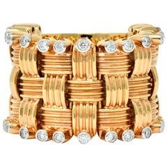 Roberto Coin Diamond 18 Karat Rose Gold Flexible Appassionata Band Ring
