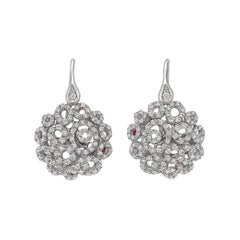 "Roberto Coin Diamond ""Mauresque"" Drop Earrings"