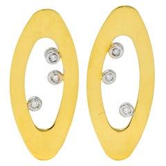 Roberto Coin Diamond Ruby 18 Karat Gold Chic & Shine Earrings