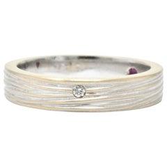 Roberto Coin Diamond Ruby 18 Karat White Gold Unisex Ring