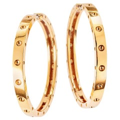 Roberto Coin Extra Large Pink Gold Hoop Earrings