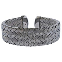 Roberto Coin Fifth Season Blackened Silver Cuff Bracelet