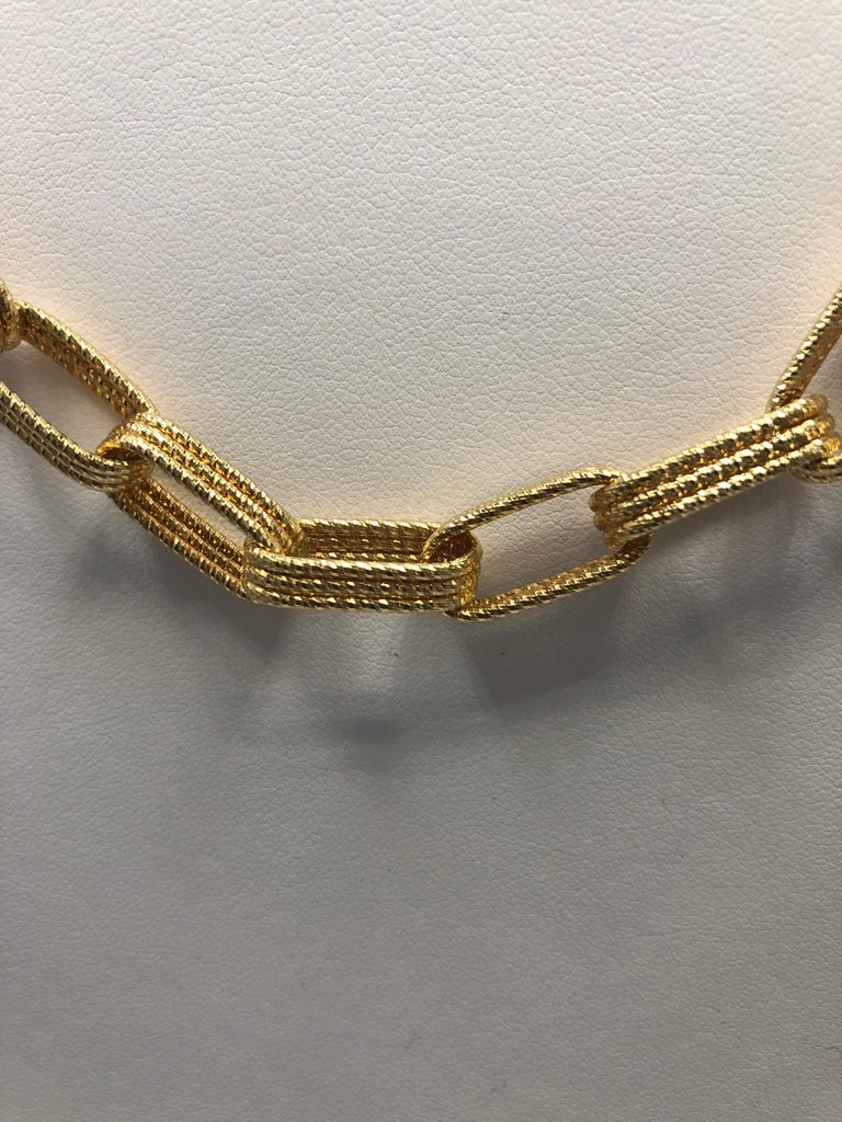Roberto Coin Gold Chain Link Necklace