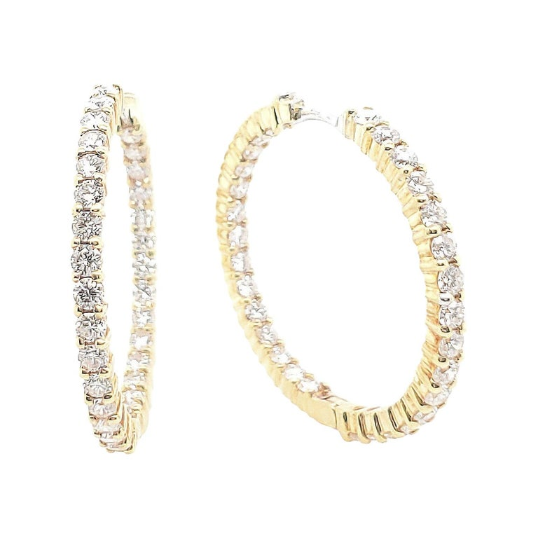 Roberto Coin Gold Diamond Earrings For Sale