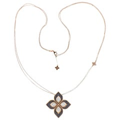 Roberto Coin Gold Venetian Flower Diamond Necklace