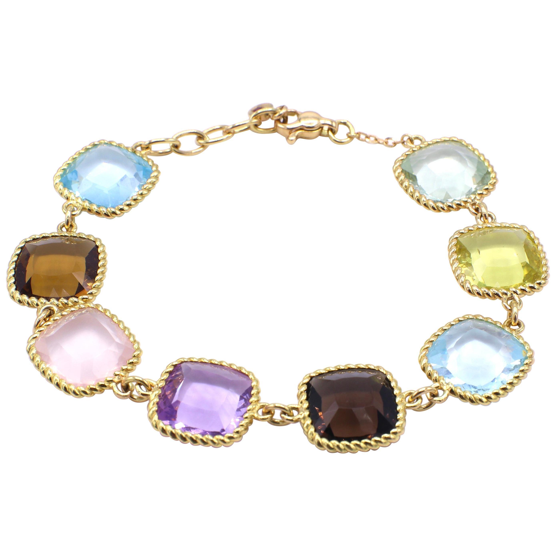 Roberto Coin Ipanema 18 Karat Yellow Gold Gemstone Bracelet