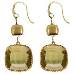 Roberto Coin Ipanema Lemon Citrine Drop Earrings
