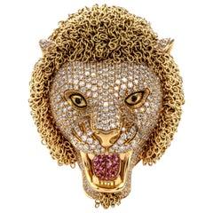 Roberto Coin Lion Masterpiece Diamond 18 Karat Gold Limited Edition Ring