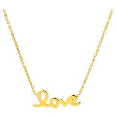 Roberto Coin Love Necklace, 18 Karat Yellow Gold