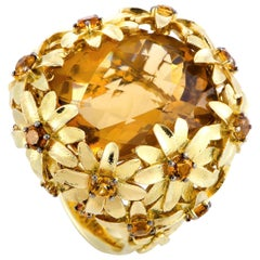 Roberto Coin Margherita 18 Karat Yellow Gold and Citrine Ring