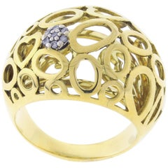 Roberto Coin Mauresque Domed Diamond Cluster Ring