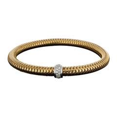 Roberto Coin Rose Gold 0.10 Carat Primavera Bangle Bracelet