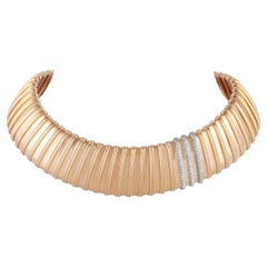Roberto Coin Nabucco 18k Rose Gold 1.80 Ct Diamond Collar Necklace