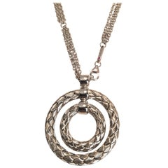 Roberto Coin Necklace 5 Two Collection with Silver Circular Pendant