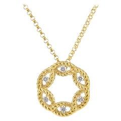 Roberto Coin New Barocco Small Diamond Circle Pendent 7771646AY18X