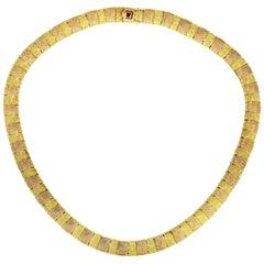 Roberto Coin Opera 18 Karat Yellow and Rose Gold Necklace
