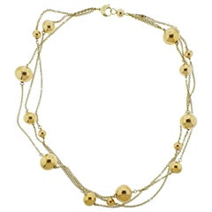 Roberto Coin Pallini Ball Gold Necklace