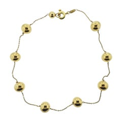 Roberto Coin Pallini Ball Station Gold Necklace