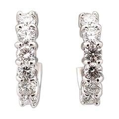 Roberto Coin Perfect Diamond Hoop White Gold Earrings