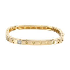 Roberto Coin Pois Moi Diamond Bangle in 18K Yellow Gold 0.07 CTW