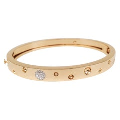 Roberto Coin 'Pois Moi Luna' Thin Rose Gold and Pave Diamond Bangle